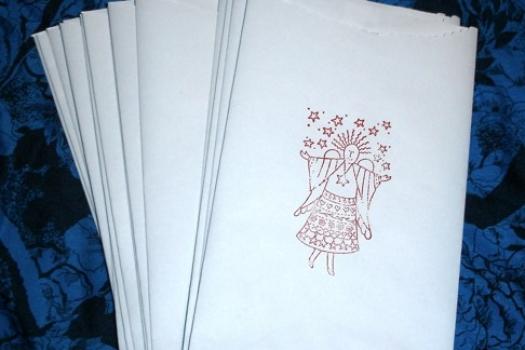 Jewelry Bags, Paper, Handmade Set of 48, 5 x 8