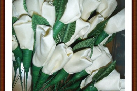 Rice Roses, Wedding, Ready to Ship, White 60 count