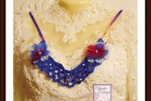 Boho necklace, blue