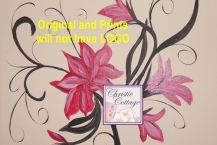 Painting, Original, Red, red, tan